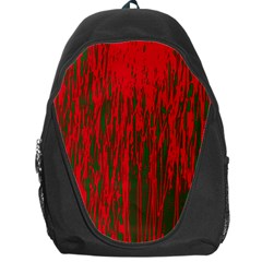 Red and green pattern Backpack Bag