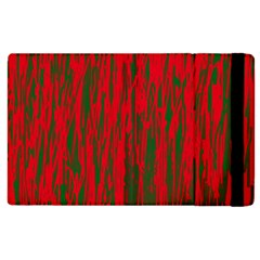 Red and green pattern Apple iPad 2 Flip Case