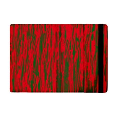 Red and green pattern Apple iPad Mini Flip Case