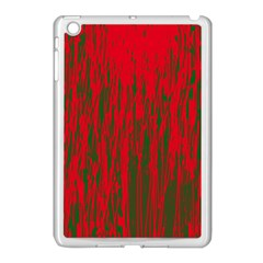 Red and green pattern Apple iPad Mini Case (White)