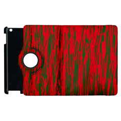Red and green pattern Apple iPad 3/4 Flip 360 Case