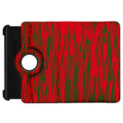 Red and green pattern Kindle Fire HD Flip 360 Case