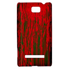 Red and green pattern HTC 8S Hardshell Case