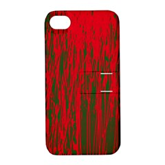 Red and green pattern Apple iPhone 4/4S Hardshell Case with Stand