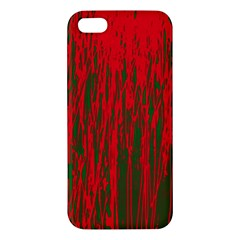 Red and green pattern Apple iPhone 5 Premium Hardshell Case