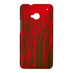 Red and green pattern HTC One M7 Hardshell Case