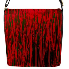 Red and green pattern Flap Messenger Bag (S)