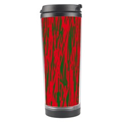 Red and green pattern Travel Tumbler