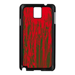 Red and green pattern Samsung Galaxy Note 3 N9005 Case (Black)