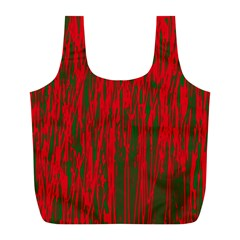 Red and green pattern Full Print Recycle Bags (L)