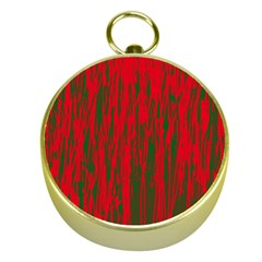 Red and green pattern Gold Compasses