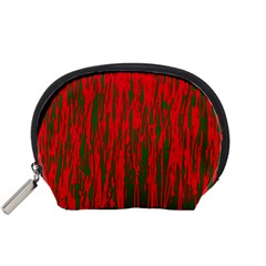 Red and green pattern Accessory Pouches (Small)