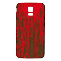 Red and green pattern Samsung Galaxy S5 Back Case (White)
