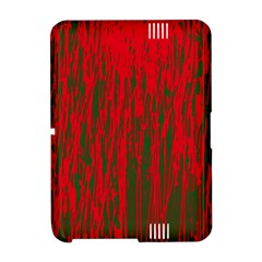 Red and green pattern Amazon Kindle Fire (2012) Hardshell Case