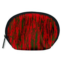 Red and green pattern Accessory Pouches (Medium)