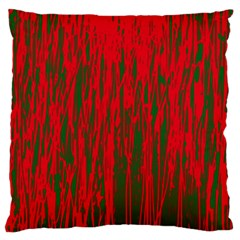 Red and green pattern Large Flano Cushion Case (One Side)