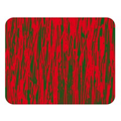 Red and green pattern Double Sided Flano Blanket (Large)