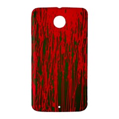 Red and green pattern Nexus 6 Case (White)