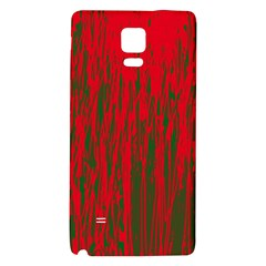 Red and green pattern Galaxy Note 4 Back Case