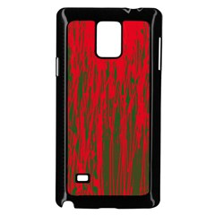 Red and green pattern Samsung Galaxy Note 4 Case (Black)