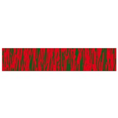 Red and green pattern Flano Scarf (Small)