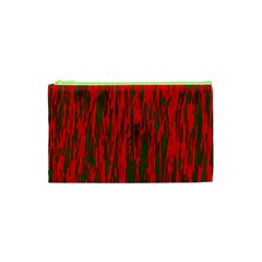 Red and green pattern Cosmetic Bag (XS)