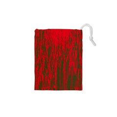 Red and green pattern Drawstring Pouches (XS)