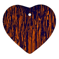 Blue and orange pattern Ornament (Heart)