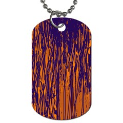 Blue and orange pattern Dog Tag (One Side)
