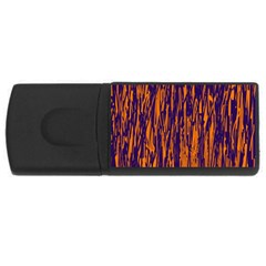 Blue and orange pattern USB Flash Drive Rectangular (2 GB)
