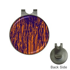 Blue and orange pattern Hat Clips with Golf Markers