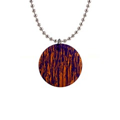 Blue and orange pattern Button Necklaces