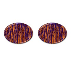 Blue and orange pattern Cufflinks (Oval)