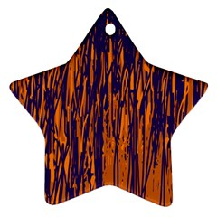 Blue and orange pattern Star Ornament (Two Sides)