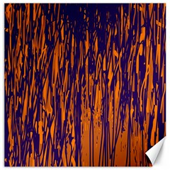 Blue and orange pattern Canvas 12  x 12