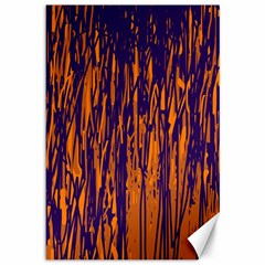 Blue and orange pattern Canvas 12  x 18