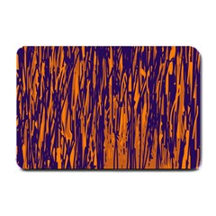 Blue and orange pattern Small Doormat