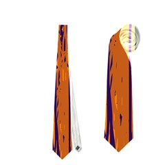 Blue and orange pattern Neckties (Two Side)