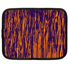 Blue and orange pattern Netbook Case (Large)