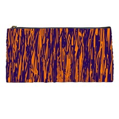 Blue And Orange Pattern Pencil Cases