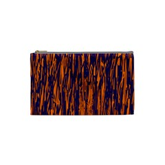 Blue and orange pattern Cosmetic Bag (Small)