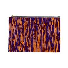 Blue and orange pattern Cosmetic Bag (Large)