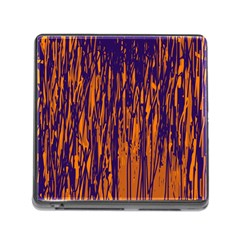 Blue and orange pattern Memory Card Reader (Square)