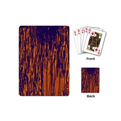Blue and orange pattern Playing Cards (Mini)