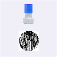Blue and orange pattern Rubber Round Stamps (Small)