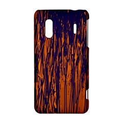 Blue and orange pattern HTC Evo Design 4G/ Hero S Hardshell Case