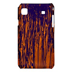 Blue and orange pattern Samsung Galaxy S i9008 Hardshell Case