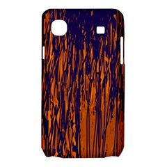 Blue and orange pattern Samsung Galaxy SL i9003 Hardshell Case