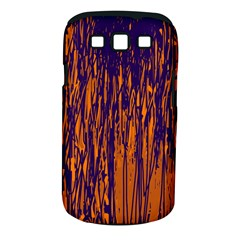 Blue and orange pattern Samsung Galaxy S III Classic Hardshell Case (PC+Silicone)