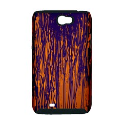 Blue and orange pattern Samsung Galaxy Note 2 Hardshell Case (PC+Silicone)